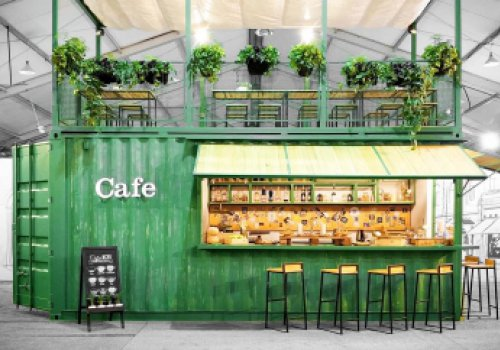 Pop-up Container Cafe