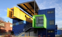 Shipping container architecture